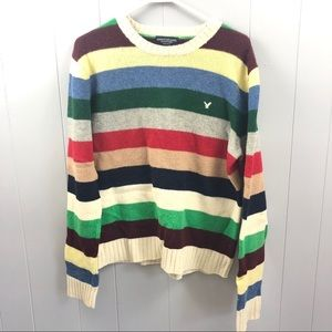 American Eagle stripe wool bright sweater M
